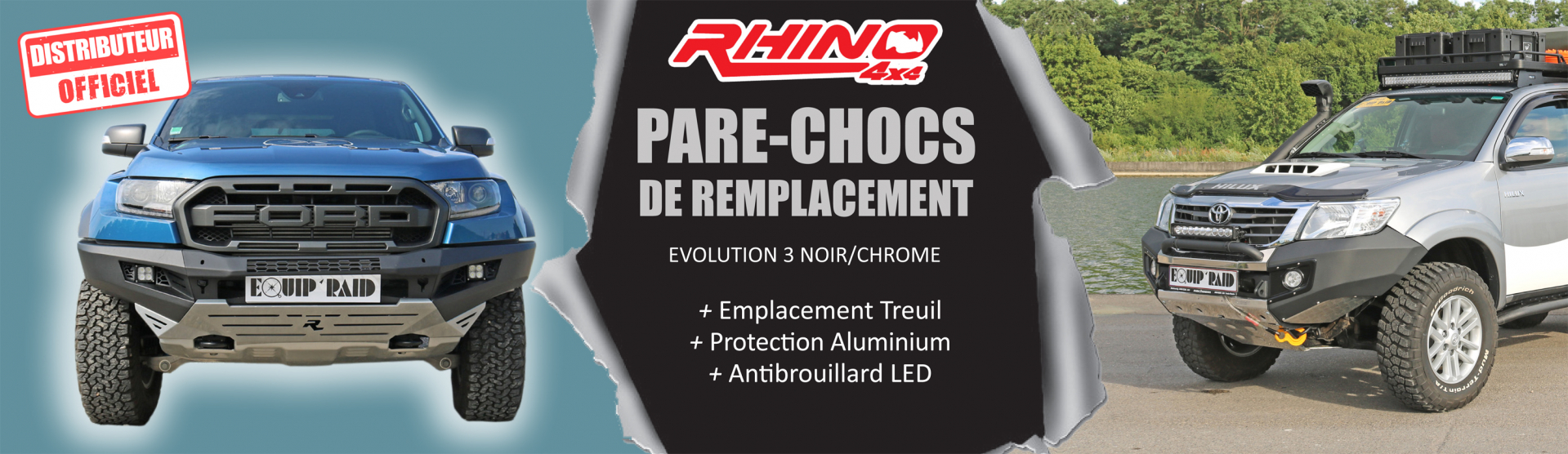 pare choc de remplacement rhino 4x4