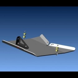 achetez n4 offoad blindage pont arriere echappement n4 pour land rover discovery 3 et 4. Black Bedroom Furniture Sets. Home Design Ideas