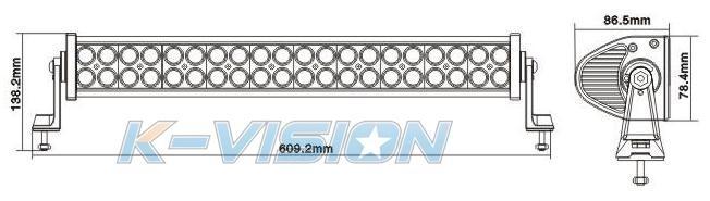 achetez k vision rampe longue portee k vision 40 led au. Black Bedroom Furniture Sets. Home Design Ideas