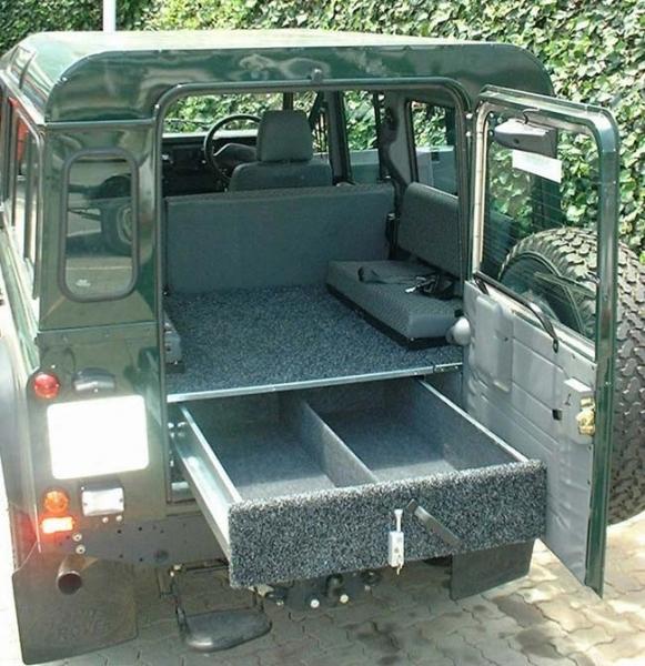 achetez african outback caisson arriere tiroir pour land rover defender 110 au meilleur prix. Black Bedroom Furniture Sets. Home Design Ideas