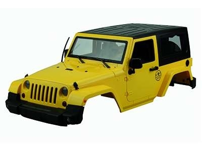 achetez carrosserie jeep wrangler rubicon jaune 1 10e au meilleur prix chez equip 39 raid. Black Bedroom Furniture Sets. Home Design Ideas