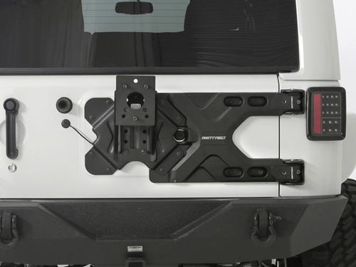 achetez smittybilt porte roue de secours heavy duty pour jeep wrangler jk au meilleur prix. Black Bedroom Furniture Sets. Home Design Ideas