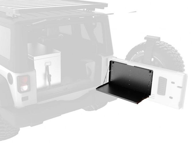 achetez frontrunner tablette repliable pour hayon frontrunner au meilleur prix chez equip 39 raid. Black Bedroom Furniture Sets. Home Design Ideas