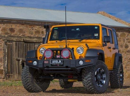 achetez arb pare choc avant arb pour jeep wrangler jk au meilleur prix chez equip 39 raid. Black Bedroom Furniture Sets. Home Design Ideas