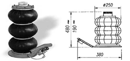 achetez cric pneumatique 3 boudins au meilleur prix chez equip 39 raid. Black Bedroom Furniture Sets. Home Design Ideas