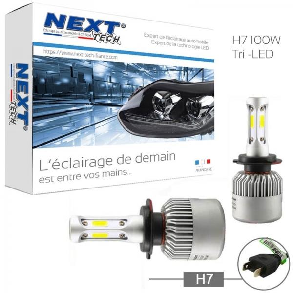 achetez next tech ampoules led h7 haute puissance 100w. Black Bedroom Furniture Sets. Home Design Ideas