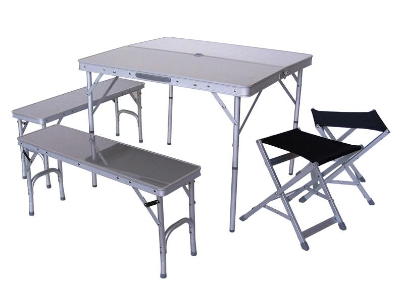 achetez set arizona avec table 2 bancs et 2 sieges pliants au meilleur prix chez equip 39 raid. Black Bedroom Furniture Sets. Home Design Ideas