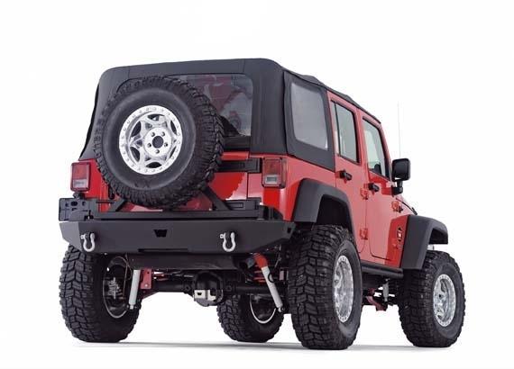 achetez warn pare choc arriere warn pour porte roue pour jeep wrangler jk a partir de 2007 au. Black Bedroom Furniture Sets. Home Design Ideas